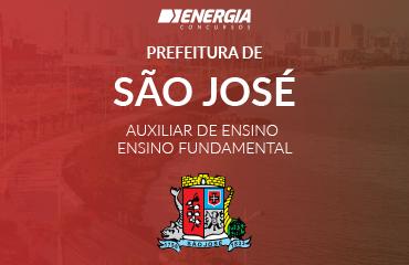 Prefeitura de São José - Auxiliar de Ensino - Ensino Fundamental