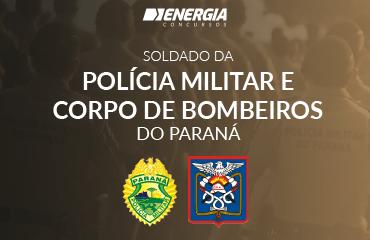 Soldado da Polícia Militar e do Corpo de Bombeiros do Paraná