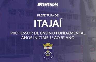 Prefeitura de Itajaí - Professor de Ensino Fundamental Anos Iniciais 1º ao 5º ano