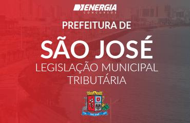 Prefeitura de São José SC - Legislação Tributária Municipal
