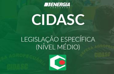 CIDASC - Legislação específica (nível médio)