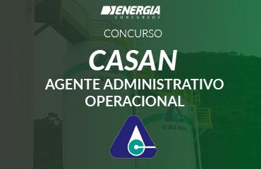 Casan - Agente Administrativo Operacional