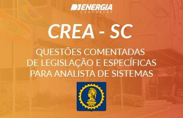 Questões Comentadas de Legislação e Específicas para Analista de Sistemas - CREA-SC