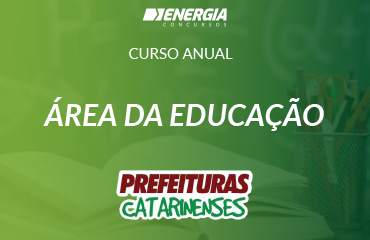 Curso anual - área da educação
